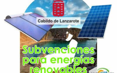 Subvenciones para renovables en Lanzarote