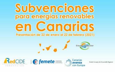 Nuevas subvenciones para energías renovables en Canarias
