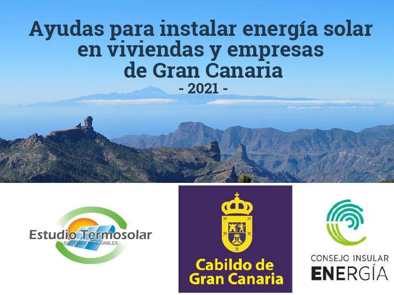 yudas para instalar energía solar en viviendas y empresas de Gran Canaria