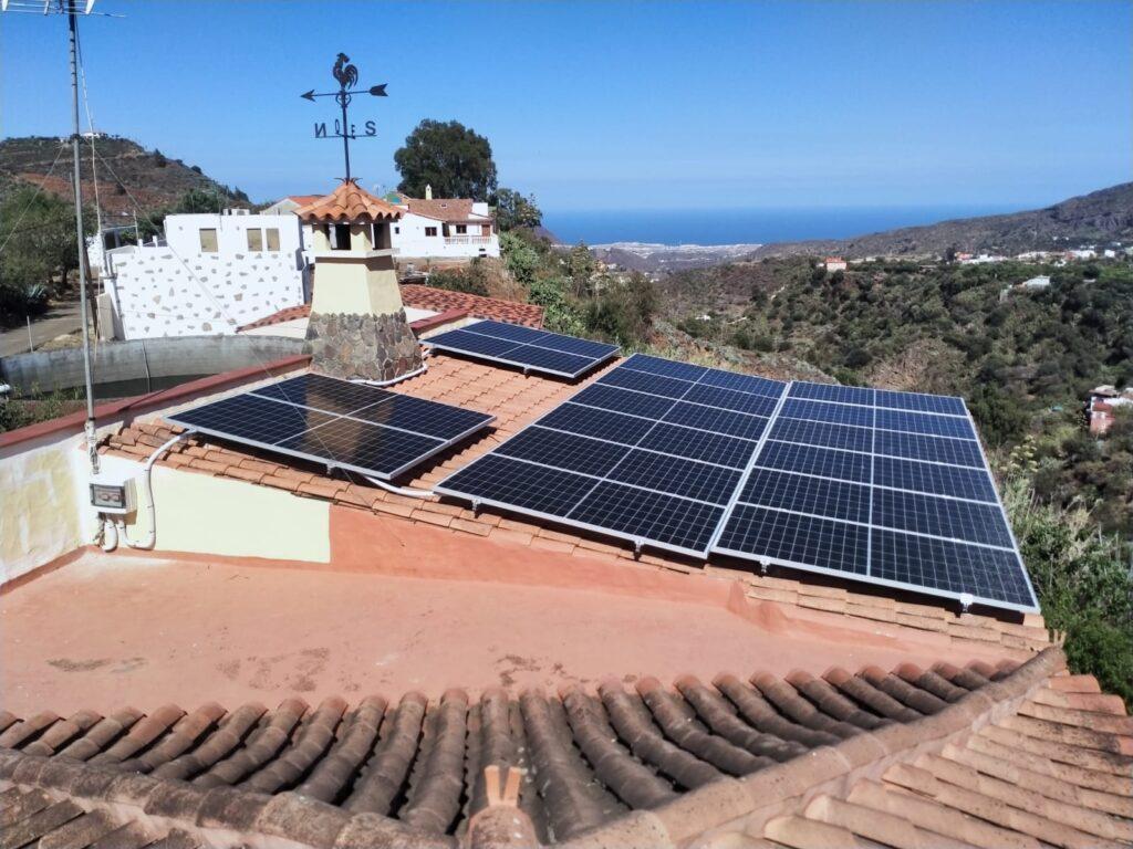 vivir con paneles solares